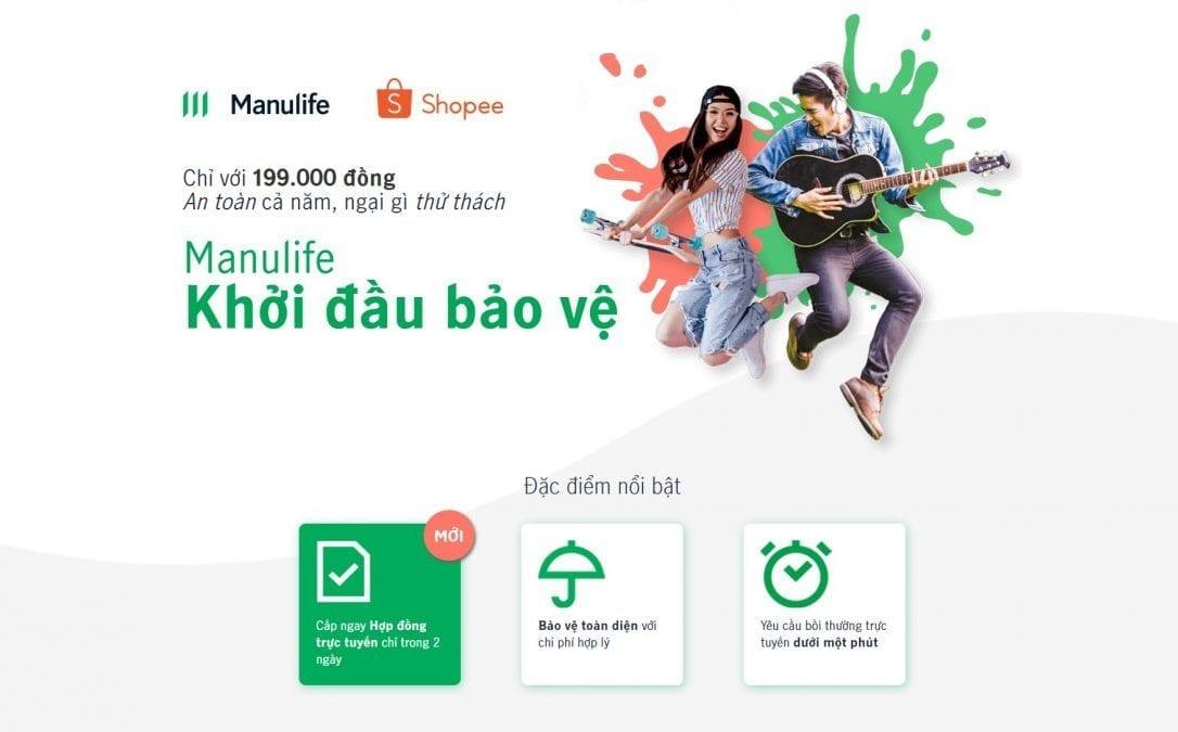 Manulife khoi dau bao ve - shopee